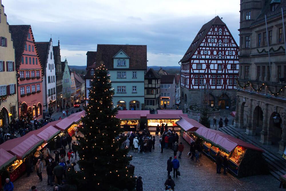 Rothenburg Buden Weihnachtsmarkt