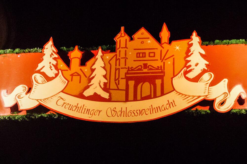 Treuchtlingen Schild Schlossweihnacht