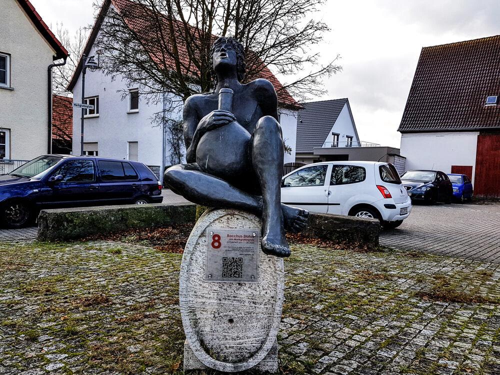 Die Bacchus-Statue in Ipsheim