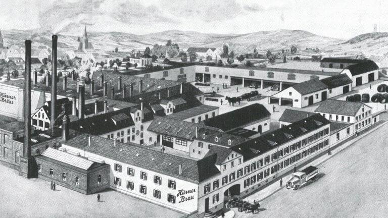 Eine alte Abbildung des Brauereigeländes