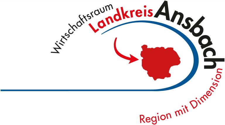 Logo der Wirtschaftsfoerderung des Llandkreises Ansbach