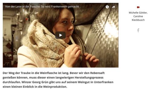 Ein Screenshot von einem eingebetten YouTube Video, darunter findet sich der entsprechende Teaser-Text dazu.