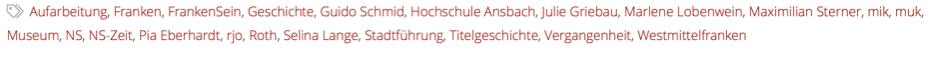 """Eine Auflistung verschiedener """"Tags""""."""