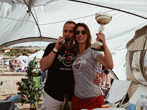 Markus (35) und Stefanie (31) erwarten sich noch mehr vom Green Camping