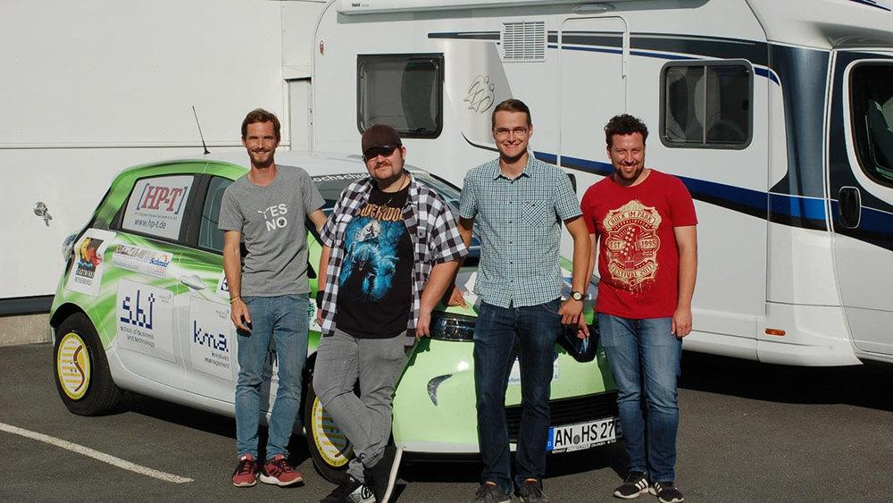 Von Ansbach nach Finnland: Studenten testen E-Auto