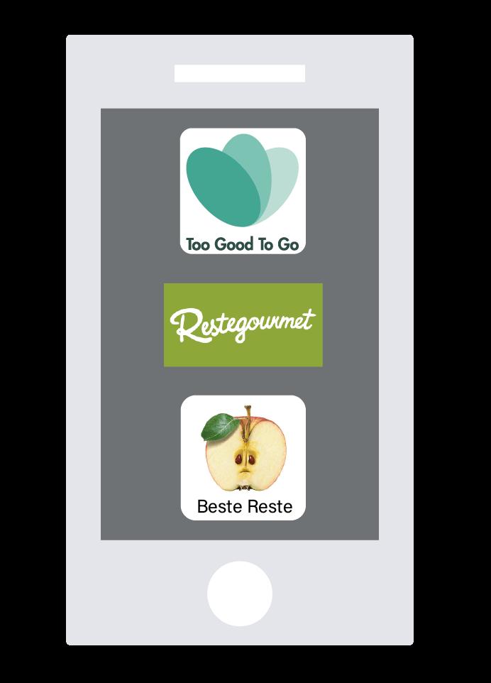 Handy zeigt 3 Apps