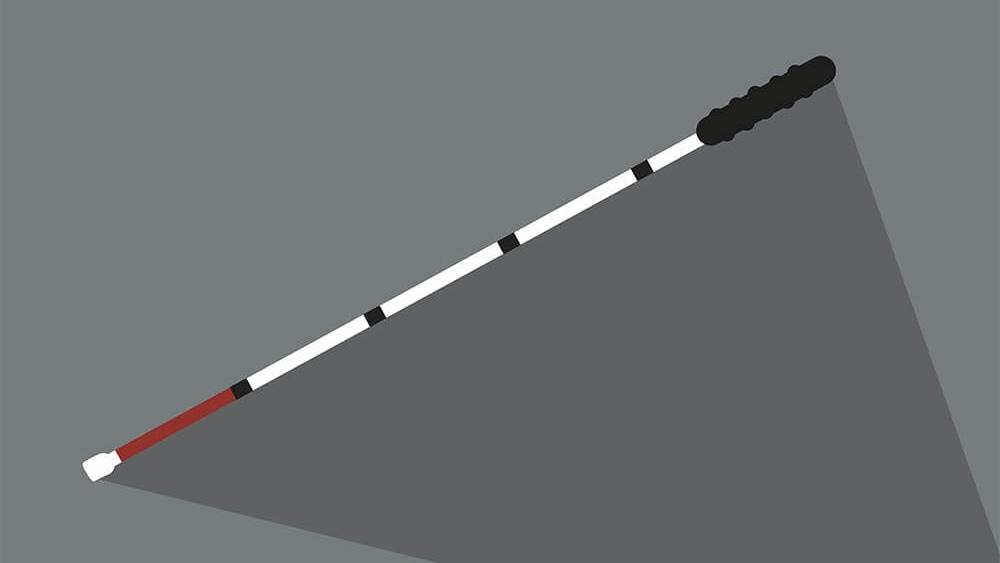 Ein gezeichneter Blindenstock