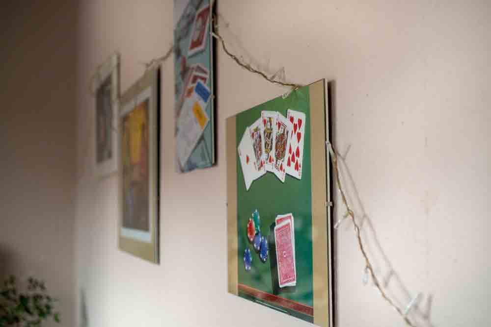 Ein Bild vom Wandschmuck im Gemeinschaftsraum
