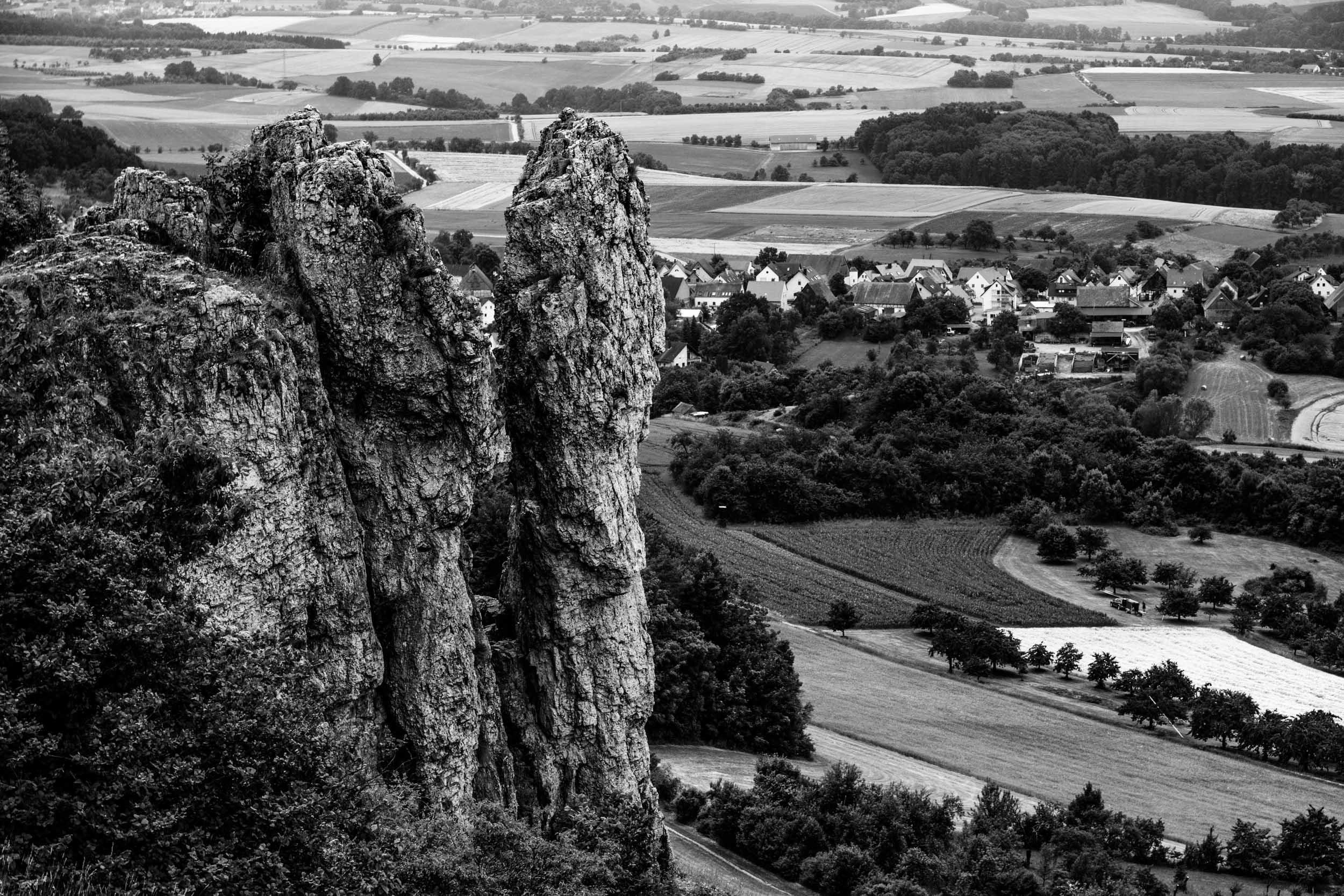 Eine beeindruckende Felsformation in der Fränkischen Schweiz