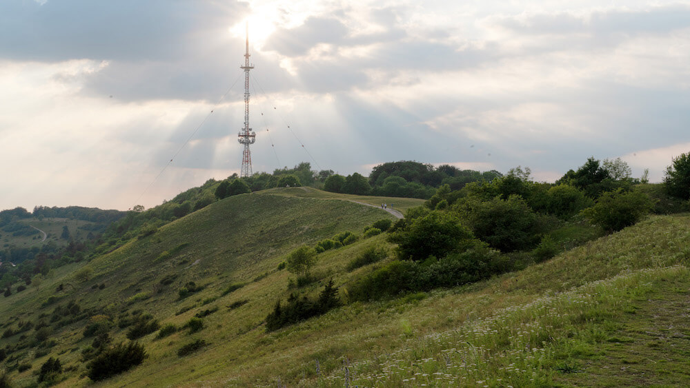 Der Ausblick über den Hesselberg, mit all seiner Flora und Fauna.