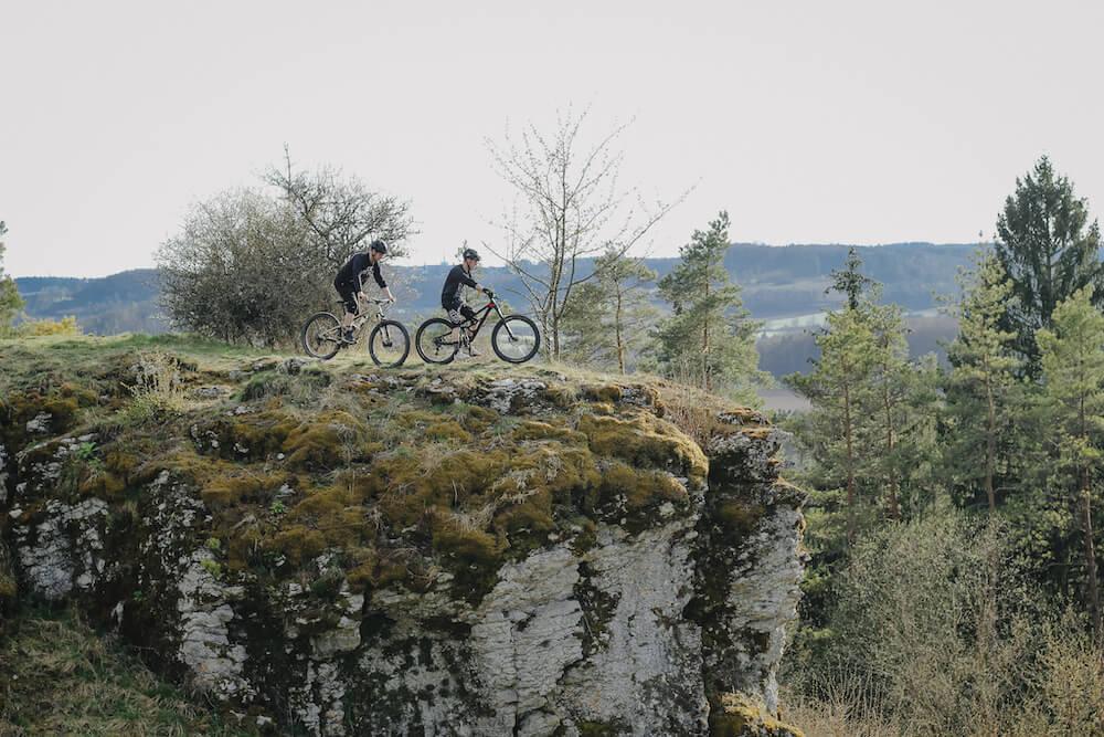 Mountainbiken in der Fränkischen Schweiz bietet jede Menge Möglichkeiten.