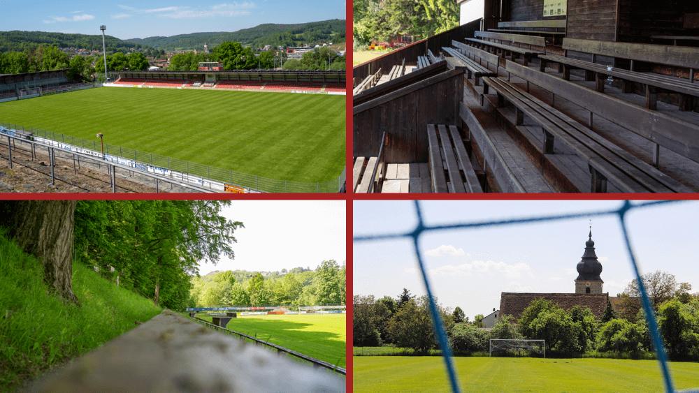 Die vielfältigen Fußballplätze Frankens.