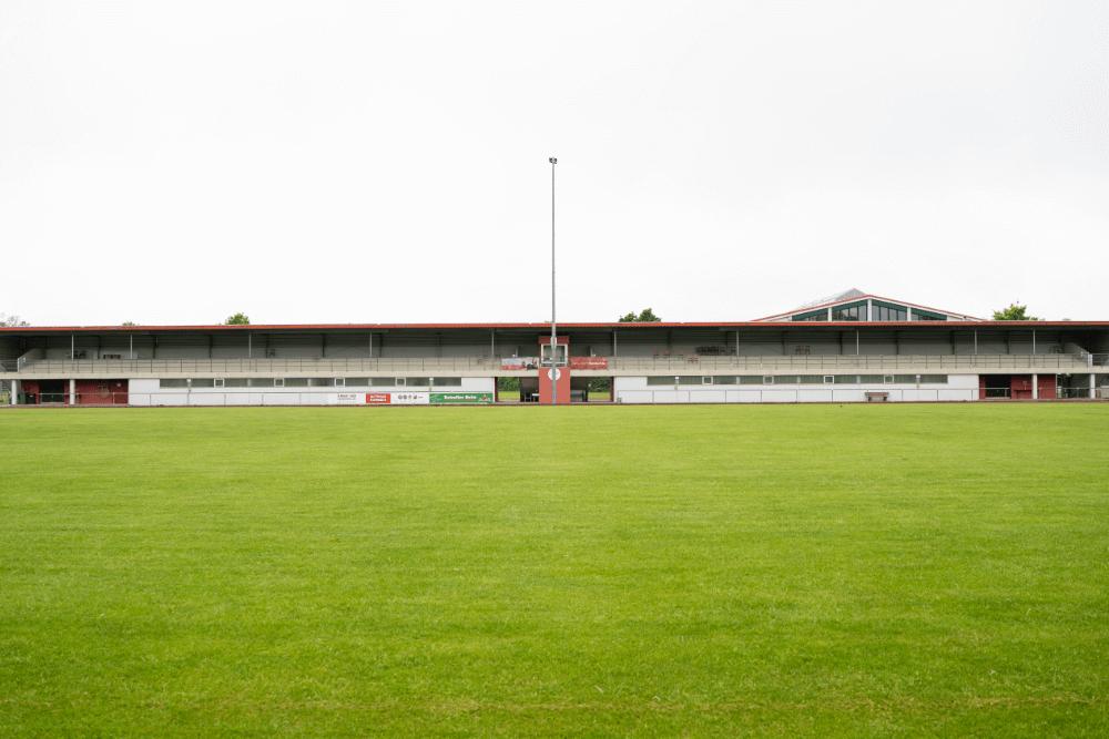 Das Stadion Lindenhain ist die Heimat des TV Leutershausen