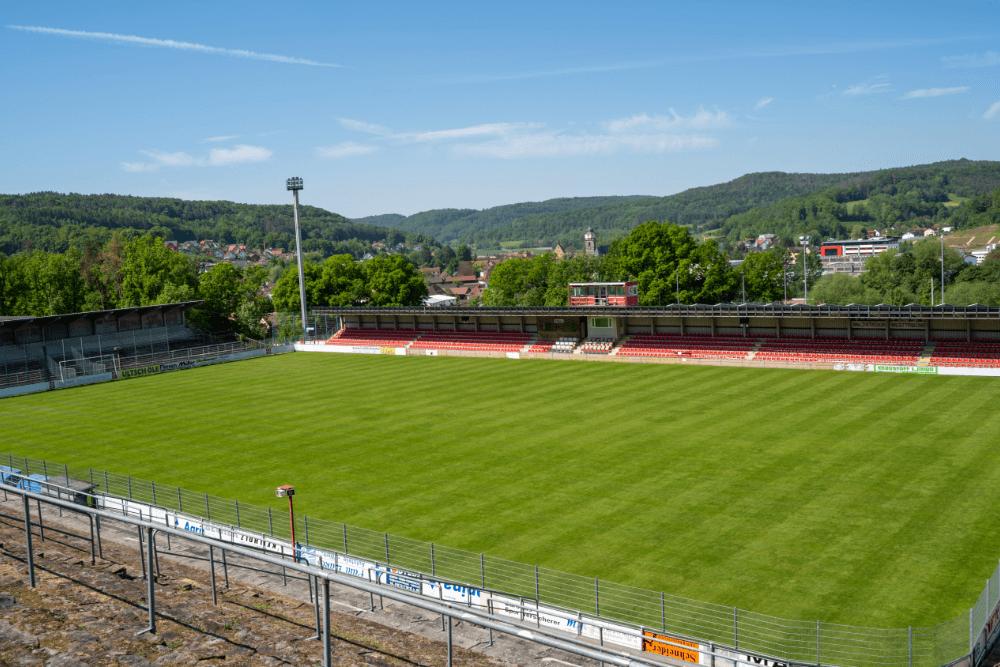 Im Waldstadion Weismain trägt aktuell der SCW Obermain seine Kreisliga-Heimspiele aus